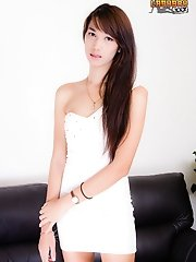 Pim Is A True Bangkok Beauty, Tall, Fair Skin, Beautiful Body With Long Legs, Nice Cock And A Very Cute Face. Her Skin Is Flawless And She Will Keep H