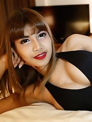 Busty 26yo Thai Ladyboy Gets A Mouthful Of Cum From Big White Cock
